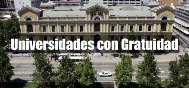 Lista de Universidades chilenas con Gratuidad al 2018